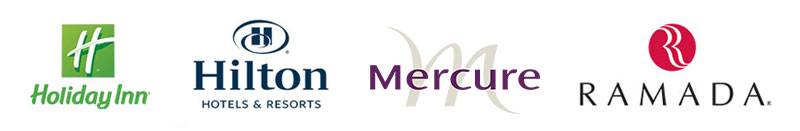 Holiday Inn, Hilton Hotels & Resorts, Mercure, Ramada
