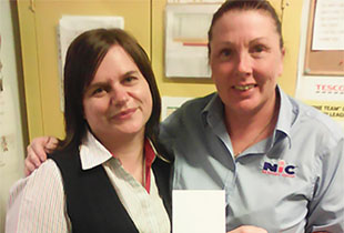 Silver Service Superstar award given to NIC team member